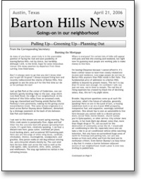 Apr 2006 BHNA Newsletter