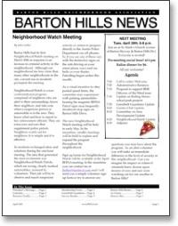 Apr 2009 BHNA Newsletter