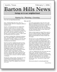 Feb 2006 BHNA Newsletter