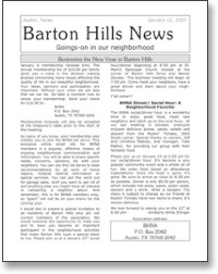 Jan 2007 BHNA Newsletter