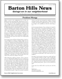 Jan 2008 BHNA Newsletter