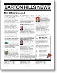 Jan 2009 BHNA Newsletter