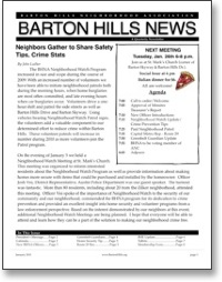 Jan 2010 BHNA Newsletter