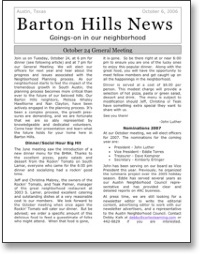 Oct 2006 BHNA Newsletter