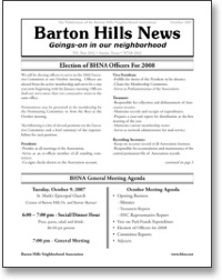 Oct 2007 BHNA Newsletter