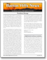 Oct 2008 BHNA Newsletter
