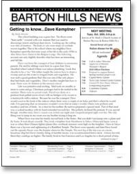 Oct 2009 BHNA Newsletter