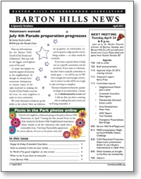 Barton Hills News April 2012