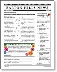 Barton Hills News April 2012