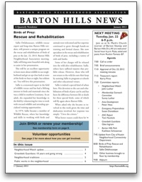 January 2013 BHNA newsletter